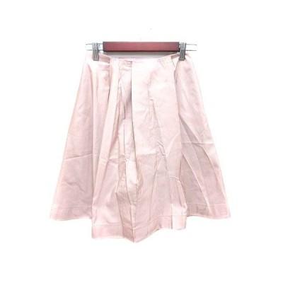 【中古】ジルサンダー JIL SANDER NAVY フレアスカート ひざ丈 絹 シルク 32 ピンク /YK レディース 【ベクトル 古着】