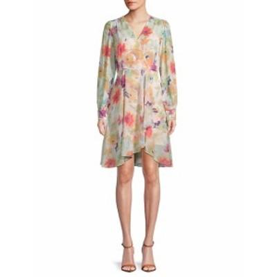 カルバンクライン レディース ワンピース Floral-Print Surplice Dress