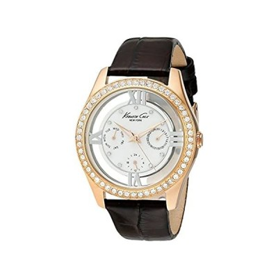 Kenneth Cole New York Women 's kc2818透明度マザーオブパールダイヤルマルチストーンベゼル腕時計好評販売中