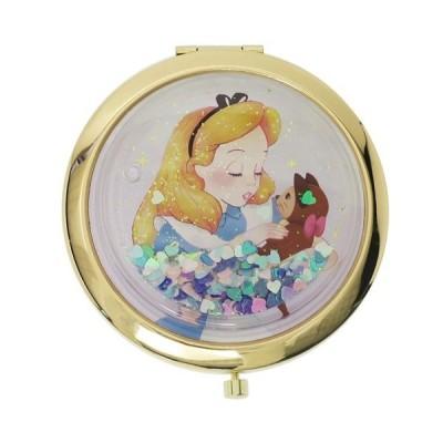 ふしぎの国のアリス ギフト雑貨 ディズニー おしゃれ 手鏡 キャラクター グッズ SHO-BI ハート&ラメ