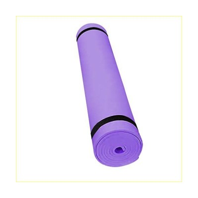 LIUguoo Yoga Mat 4MM EVA Thick Non Slip Exercise and Fitness Mat for All Types of Yoga, Pilates and Floor Workouts (Purple)【並行輸入