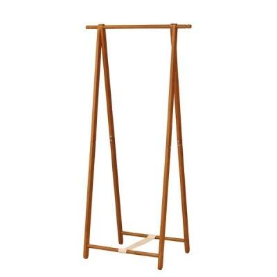 木製 コートハンガー/ハンガーラック 〔ブラウン〕 幅775×奥行455×高さ1550mm 折りたたみ可 〔リビング 寝室〕 組立品〔代引不可〕