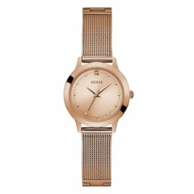 ゲス レディース 腕時計 アクセサリー Women's Rose Gold Diamond Mesh watch 25MM Rose Gold-tone