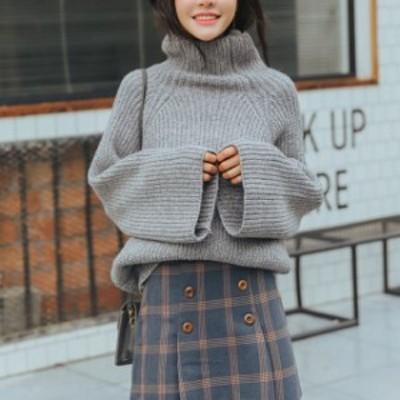 オススメ 人気 ニット セーター トップス カシミア タートルネック カジュアル ガーリー ゆったり hf00464