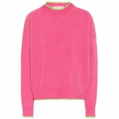 マルニ Marni レディース ニット・セーター トップス Wool and mohair-blend sweater Fuchsia