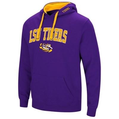 コロシアム パーカー・スウェットシャツ アウター メンズ Men's LSU Tigers Arch Logo Hoodie Purple