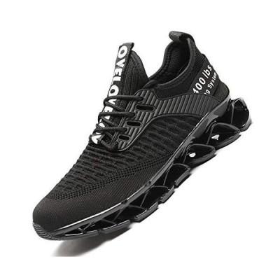 Vooncosir Women's Running Shoes Comfortable Fashion Non Slip Blade Sneakers Work Tennis Walking Sport Athletic Shoes Black【並行輸入品