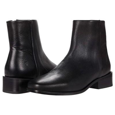 フライ River Inside Zip Bootie レディース ブーツ Black Soft Vintage Leather