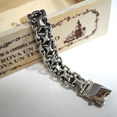 シルバーブレスレット 925  重厚 チェーン 喜平 銀 本物 メンズ silver