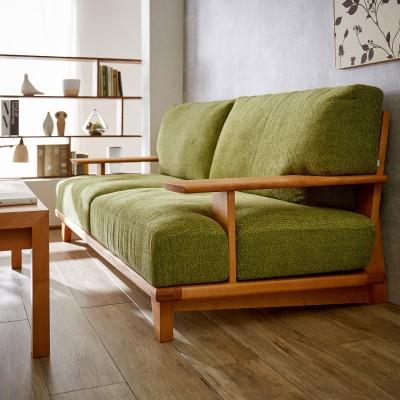 天然木アルダー材オイル仕上げのソファー(3人掛け)(BOSCO)