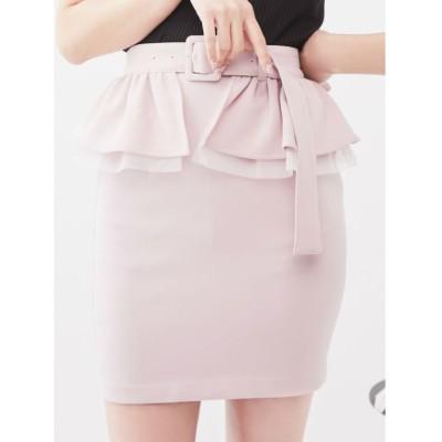 【イートミー】 2WAYペプラムスカート レディース ピンク M EATME
