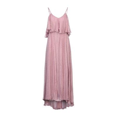 MES DEMOISELLES ロングワンピース&ドレス モーブ 36 レーヨン 100% ロングワンピース&ドレス