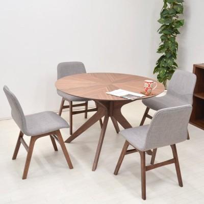 ダイニングテーブルセット 丸テーブル バースト 5点 幅110cm 4人掛け クロス脚 sbkt110-5-pani339wn ウォールナット色 LGE色 アウトレット 組立品 23s-5k so