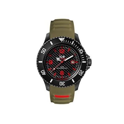 Ice-Carbon Mens Analogue Quartz Watch with Silicone Bracelet CA.3H.BKA.B.S.15 並行輸入品