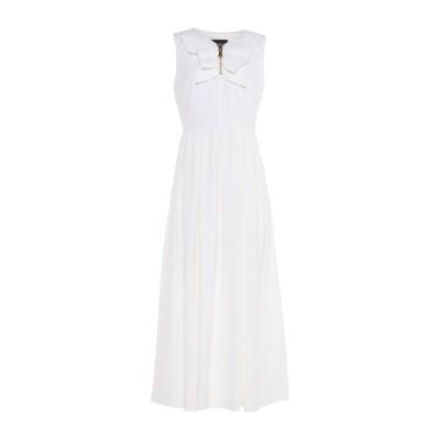 BOUTIQUE MOSCHINO 7分丈ワンピース・ドレス ホワイト 40 コットン 100% 7分丈ワンピース・ドレス