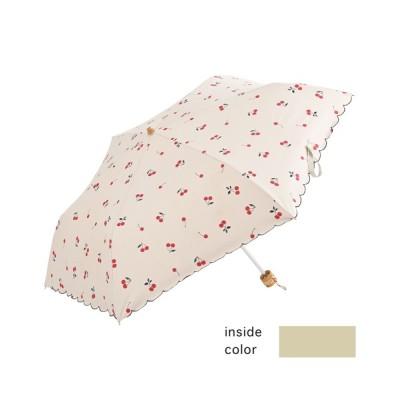 Paradise Picnic / 【KATHARINE ROSS】nifty colors 遮蔽率99.9%以上ヒートカットチェリー晴雨兼用折たたみ傘 WEB限定 WOMEN ファッション雑貨 > 折りたたみ傘