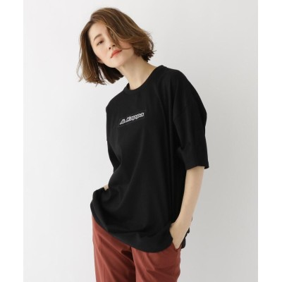 BASE CONTROL LADYS(ベース コントロール レディース) コラボ 別注 Kappa / カッパ バックジップ 半袖 Tシャツ
