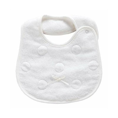赤ちゃんの城 スタイ シルキーホワイト 超長綿無撚糸タオル 日本製