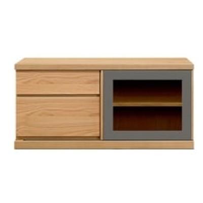 天然木材家具アーザ(ローボード テレビ台・TVボード)120cm ブラックチェリー