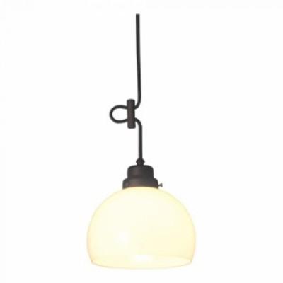 ペンダントライト 鉄鉢硝子セード CP型BK 60Wホワイトシリカ球付 GLF-3256 GLF-3256
