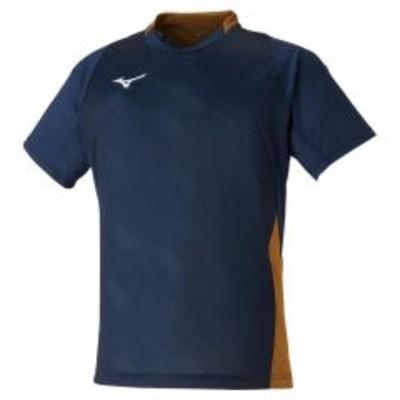 ミズノ ゲームシャツ 72MA0001 ネイビー×ゴールド メンズ ユニセックス 2020SS バドミントン テニス ソフトテニス ゆうパケット(メール便)対応 2020最新 2020春夏