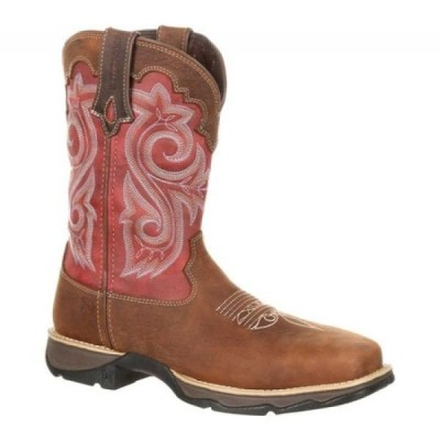 "デュランゴ レディース ブーツ シューズ・靴 DRD0220 Lady Rebel 10"" Western Work Boot Briar Brown/Rusty Red Full Grain Leather/Synthetic"
