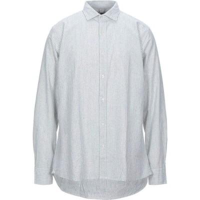 R3D ウッド R3D WOOD メンズ シャツ トップス striped shirt Light green