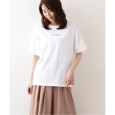 【ナチュラルビューティーベーシック】 オーガニックコットン カジュアルTシャツ レディース ロゴオフベース2 M NATURAL BEAUTY BASIC
