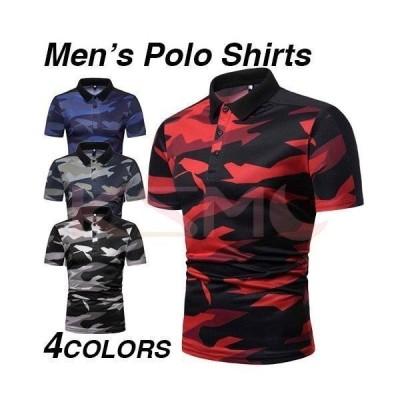 ポロシャツ メンズ 半袖 無地 柄 半袖ポロシャツ 新作 トップス ゴルフウェア ゴルフ おしゃれ