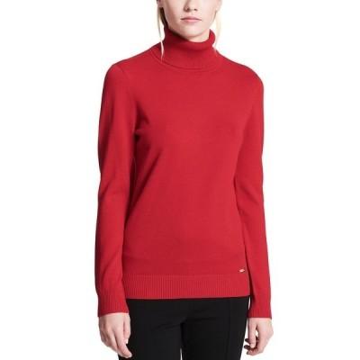 カルバンクライン ニット&セーター アウター レディース Turtleneck Sweater Rouge