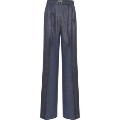 ガブリエラ ハースト Gabriela Hearst レディース ボトムス・パンツ Vargas Belted Wool-Blend Pants Denim