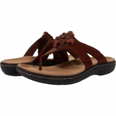 クラークス Clarks レディース サンダル・ミュール シューズ・靴 Laurieann Gema Brown Leather/Synthetic Combination