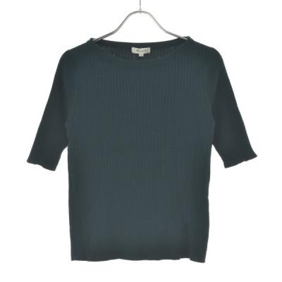 【期間限定値下げ】PLS+T / プラステ ハイツイストレーヨンナイロンクルーネック 五分袖ニットセーター