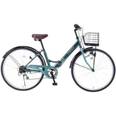 マイパラス M-507-GR グリーン [折りたたみシティ自転車(26インチ・6段変速)] 折りたたみ自転車・ミニベロ