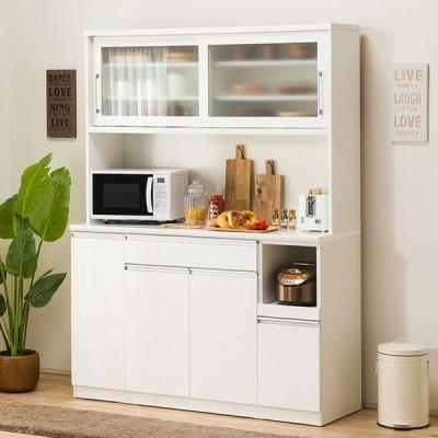 食器棚(レジューム 150TG-S WH/150TH-R WH) ニトリ 『配送員設置』 『5年保証』