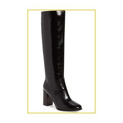 Jeffrey Campbell BridleBlock Heel Knee High Black Leather Dress Boots (8, Black)