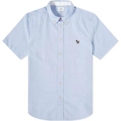ポールスミス Paul Smith メンズ 半袖シャツ ワイシャツ トップス Button Down Zebra Oxford Shirt Sky