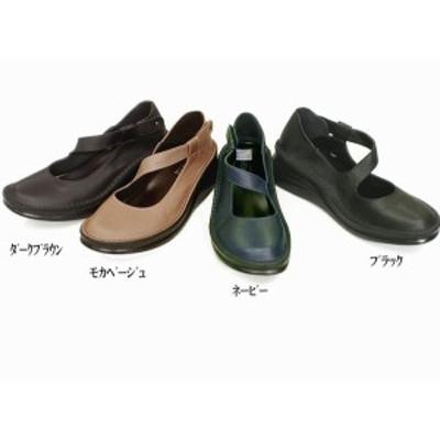 パンプス レディースシューズ レディースファッション 靴 秋冬商品 本革 ワンストラップシューズ 22.0 24.5 4色展開 ベルクロ 脱げにくい
