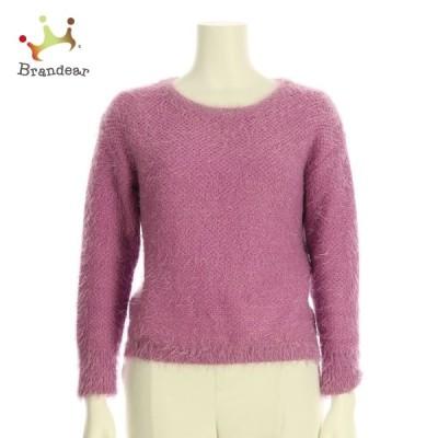 クイーンズコート QUEENS COURT 長袖セーター サイズM レディース ピンク系 ニット・セーター 新着 20201225