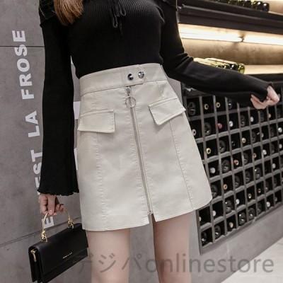 スカート 秋冬 40代 ボトムス タイトスカート ハイウエスト PUスカート ミニスカート レザースカート Aライン 美脚 きれいめ 大きいサイズ おしゃれ 着痩せ 上品