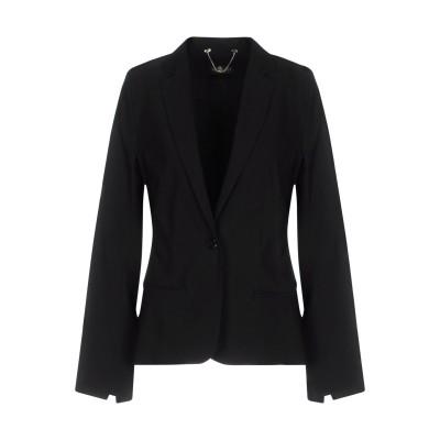 ツインセット シモーナ バルビエリ TWINSET テーラードジャケット ブラック L 74% レーヨン 22% ナイロン 4% ポリウレタン テー