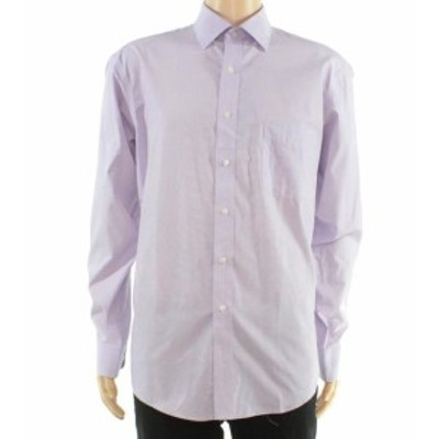 One  ファッション ドレス Club Room Purple Dress Shirt Mens Size 18 One Pocket Regular-Fit