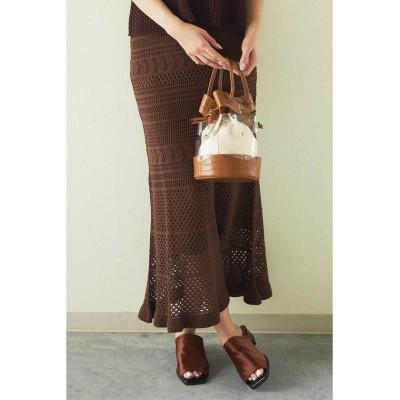 (FREE'S MART/フリーズマート)◆透かし編みニットマーメイドスカート/レディース ブラウン