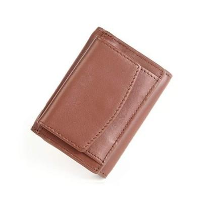 MURA 三つ折り財布 ミニ財布 メンズ 産地証明付き イタリアンレザー スキミング防止 (ブラウンxブラウン)