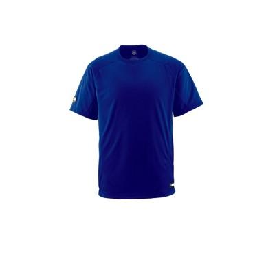 【デサント】 ベースボールシャツ(Tネック) メンズ ブルー系 150 DESCENTE