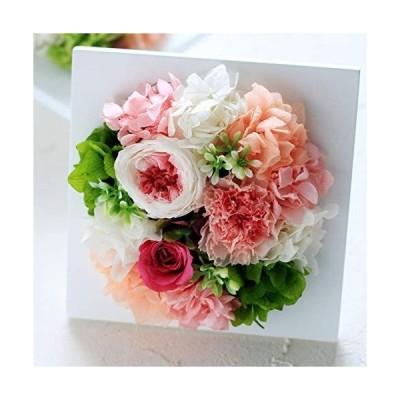 プリザーブドフラワー Eclaire Flower Design フレームアレンジ シャンパンピンク 敬老の日 母の日 お祝い