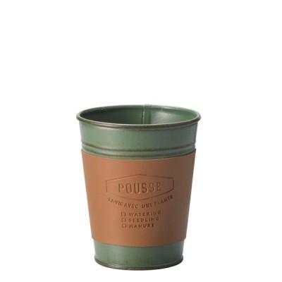 Cafeスタイルポット S グリーン 10個セット 4353-B-GR 2020green   鉢 ポット 花器 アレンジ フラワー グリーン ブリキ ナチュラル ギフト プレゼント