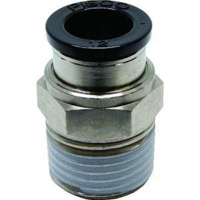 ピスコ チューブフィッティング ストレート 適合外径12mm 接続口径R1/2 (品番:PC12-04)『2909685』