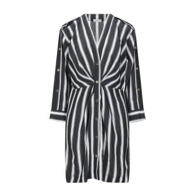 SANDRO ミニワンピース&ドレス ブラック 36 レーヨン 85% / ナイロン 15% / 真鍮/ブラス ミニワンピース&ドレス