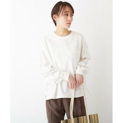 OPAQUE.CLIP/オペーク ドット クリップ スペシャルコットン ロングスリーブTシャツ ホワイト(002) 38(M)